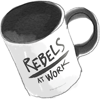 Illustration Rebels-at-Work-Tasse von Förster & Kreuz